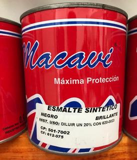 Pintura Esmalte Sintetico Duatlon Negro 900ml Linea Macavi