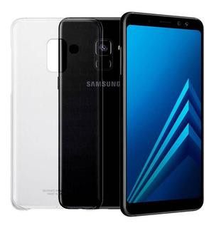 Smartphone Samsung A8+ (plus) Preto 64 Gb Memória Dual Chip