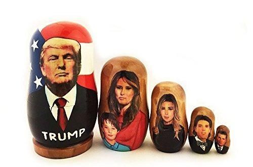 Presidente Donald Trump Familia Muñeca De Anidación De Mader