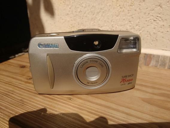 Antiga Câmera Fotográfica Canon Sure Shot 76zoom Leio Anúnci