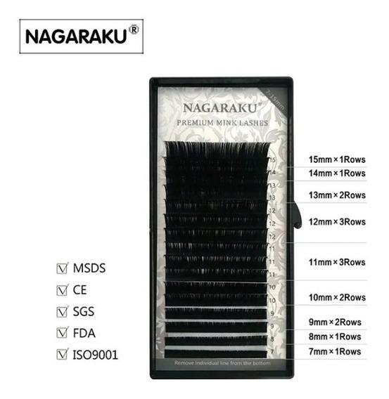 Cílios Nagaraku Premium Mink Mix Tam(7ao15) Volume Russo Fio