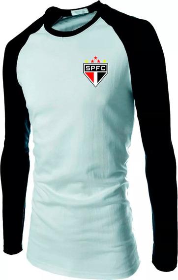 Camiseta Raglan Manga Longa São Paulo, Tricolor, Mito, Spfc