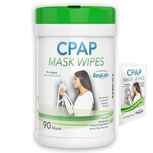 Resplabs Cpap Original De La Máscara Wipes, 90 Paquete | Sin