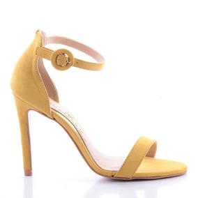 Sandália Miriam Couro Amarelo
