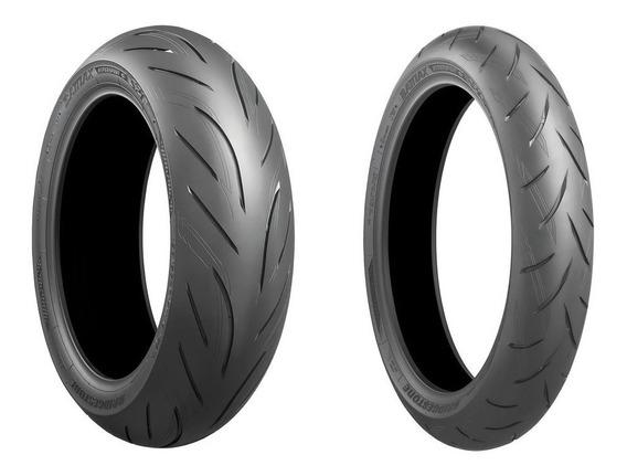 Pneus Bridgestone S21 120/70-17 180/55-17 Zx6 R6 Srad Gsr750