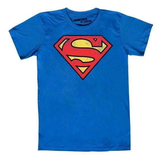 Playera Mascara De Latex Superman Logo