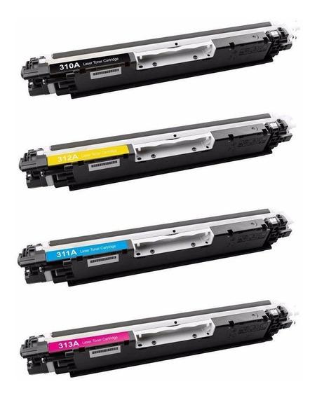 Kit Toner Ce 310a Ce 311 Ce 312 Ce 313 Hp 175 176 177 Cp1025