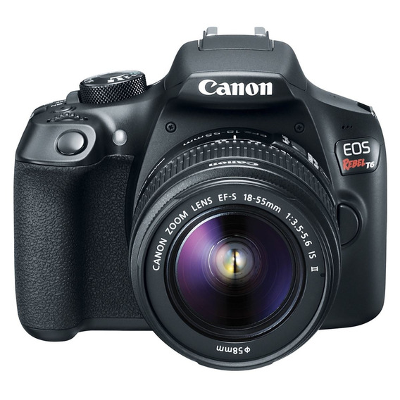 Cámara Canon Eos Rebel T6 Dslr Ef-s 18-55 Mm Nueva Garantia