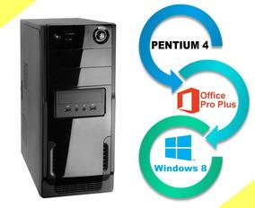 Cpu Pentium 4 1.5gb Ddr2, Hd 80gb, Pacote Office, Windows 8