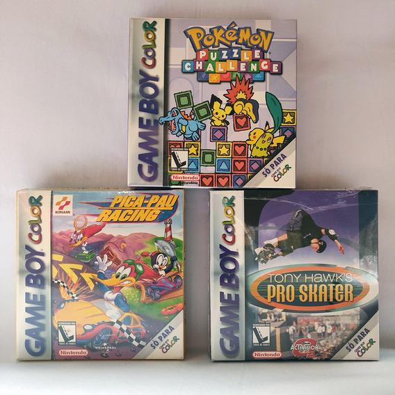 Kit Com 2 Jogos Para Game Boy Color Lacrados + Brinde