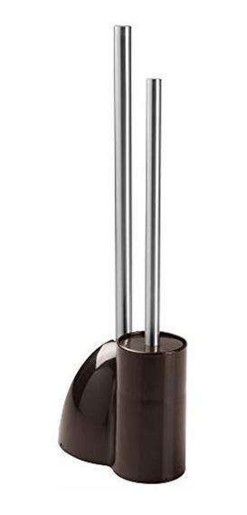 Mdesign Compact Plastic Toilet Bowl Brush