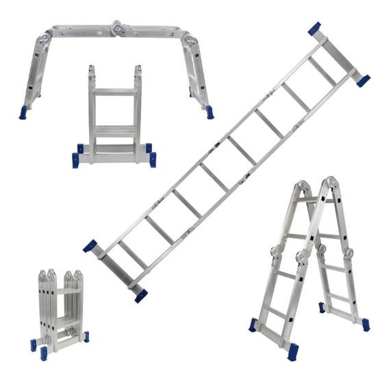 Escada Dobrável Multiuso 2,40 M Alumínio 4 X 2 Belfix