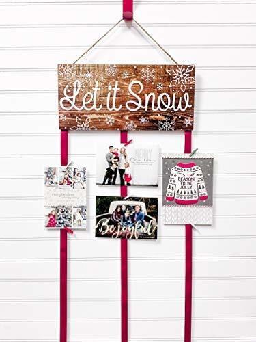Imagen 1 de 2 de Tarjetero De Navidad - Let It Snow (natural)