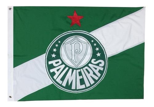 Imagem 1 de 1 de Bandeira Oficial Do Palmeiras 128 X 90 Centímetros