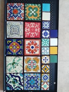 24 Azulejos Artesanales Estilo Talavera De 10x10 Y 5x5 Cm