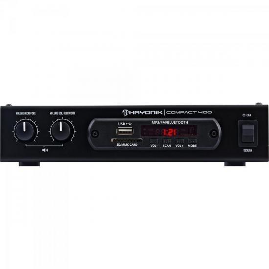 Amplificador 40w Com Bluetooth Compact 400 Preto Hayonik
