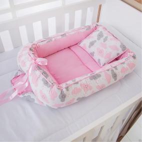 Ninho Redutor Bebê Menina Nuvem Rosa 2 Peças