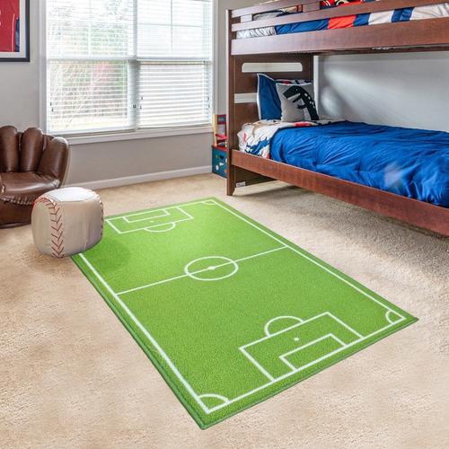 Imagen 1 de 4 de Alfombra Carpeta Cancha Infantil 67x120 Modelo Europa Futbol