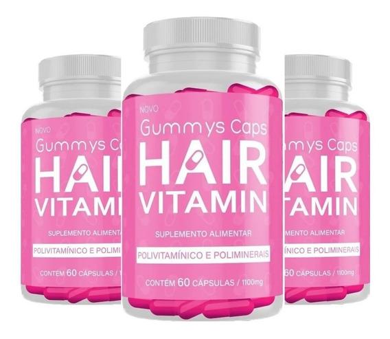 1 Frasco Gummy Hair 60 Cápsulas Original