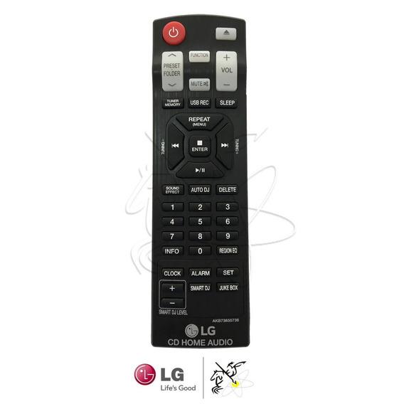 Controle Mini System LG Cm9740 / Cm9940 / Cm9940 Akb73655741