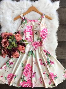Vestido Boneca Godê Princesa Decote Tule Com Bojo