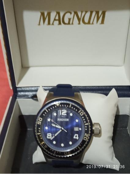 Relógio Masculino Magnum Azul/ Prata + A Caixinha