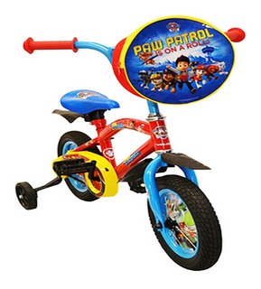 Bicicleta Infantil R12 1 Vel Rojo Paw Patrol Jop Bmx