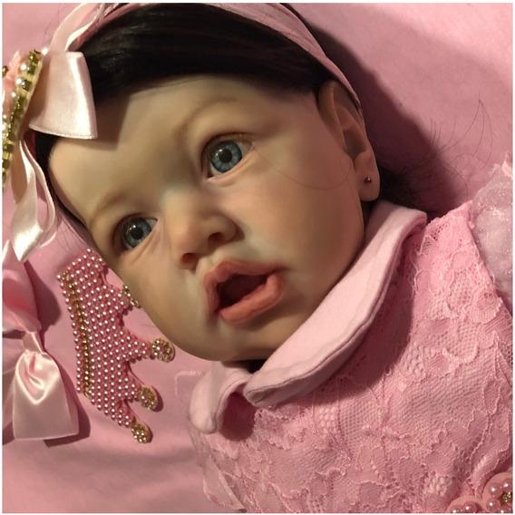 Boneca Bebe Reborn Mariah Corpo Inteiro Molde Autentico