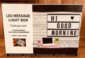1 Led Light Box Letreiro De Cinema A4 96 Caracteres E Cabo