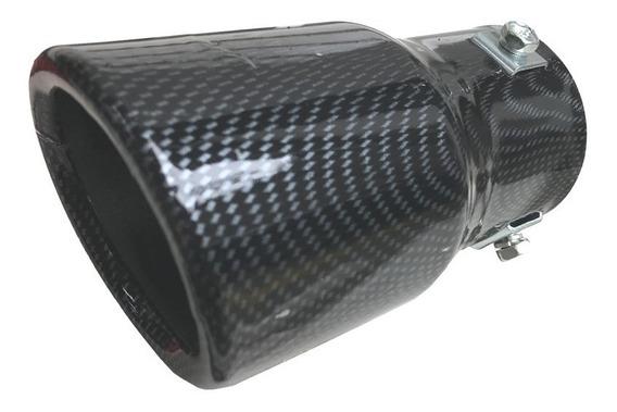 Ponteira De Escapamento Carro Universal Fibra De Carbono