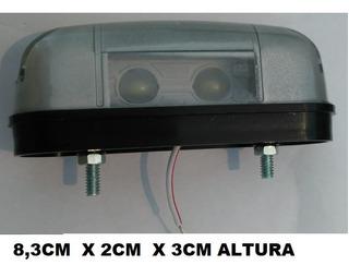 2 Lanterna Luz Placa Caminhao Carretinha Moto 12v Led Duplo
