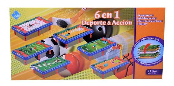 Juegos De Mesa 6 En 1 Deportes Y Acción El Duende Azul 7244