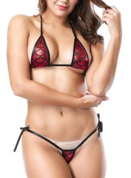 Micro Vestido De Baño 2019 Sirena - Bikini - Tanga + Bra