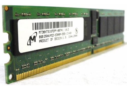 Imagem 1 de 9 de Memoria Ecc Reg 32gb Pc2-5300p 667 Dell Poweredge R300 T300