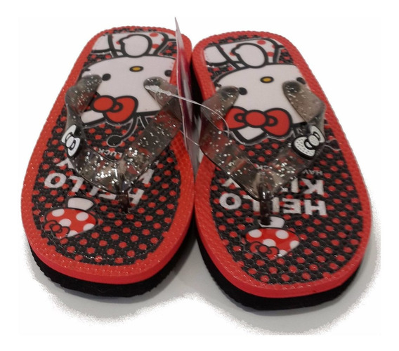 Ojotas Hello Kitty Con Glitter Originales Footy