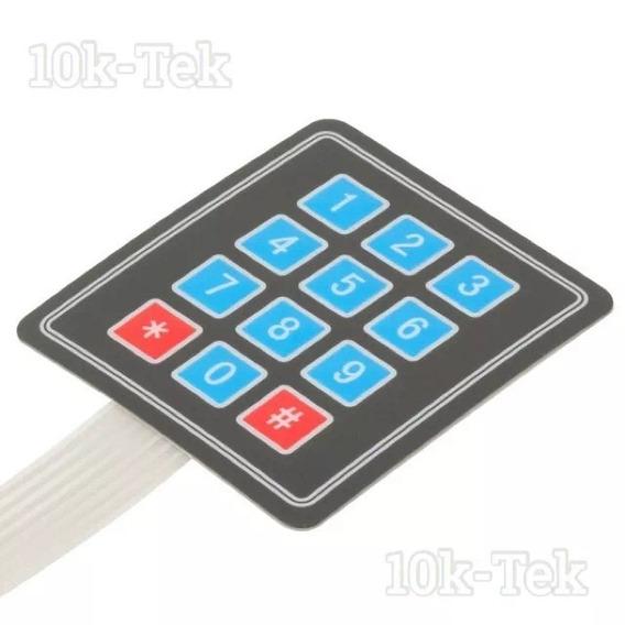 Teclado Matricial 4x3 - 12 Teclas - Membrana Envio$12,00