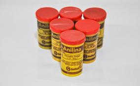 5 Anilinas Alemãs Original Salisil 25 Gr