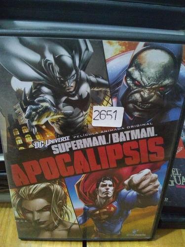 Imagen 1 de 3 de Pelicula Original En Dvd Batman Y Superman Apocalipsis