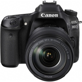 Câmera Canon Eos 80d Dslr Com Lente Canon 18-135mm Is Usm