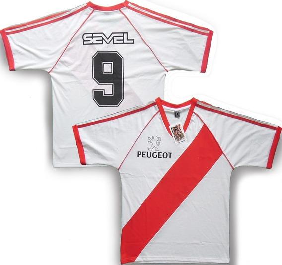 Camiseta Retro River Plate 1989/90 #9 Borelli -peugeot-