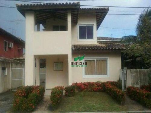 Casa Com 3 Dormitórios À Venda, 312 M² Por R$ 840.000,00 - Pitangueiras - Lauro De Freitas/ba - Ca0122
