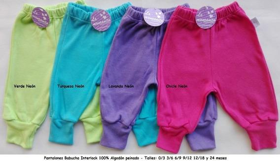 Pantalones Babucha C/puño Interlock La Manzanita Bebé Promo