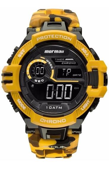 Relógio Mormaii Masculino Camuflado Mo1134/8l Amarelo Digita
