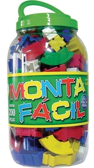 Brinquedo Para Montar Monta Fácil 200 Peças - Pais E Filhos