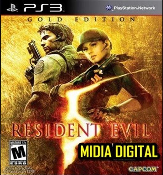 Resident Evil 5 Ps3 Jogos Tiros Digital Psn Barato Promoção