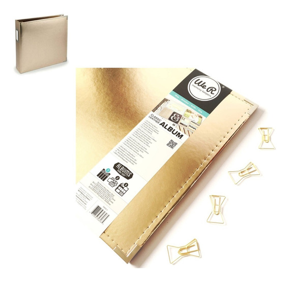 Gold Classic Leather We R Memory Keepers 12×12 Project Life