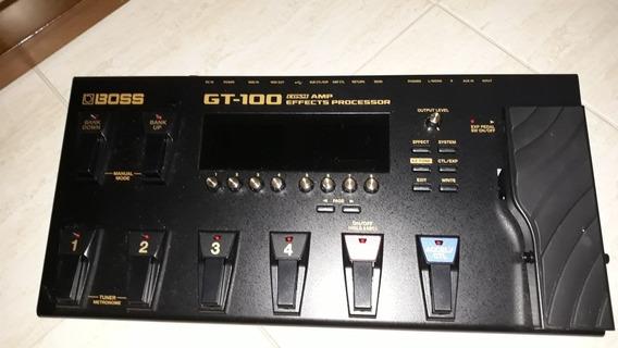 Pedaleira Boss Gt-100 P/ Guitarra Com Fonte Gt100