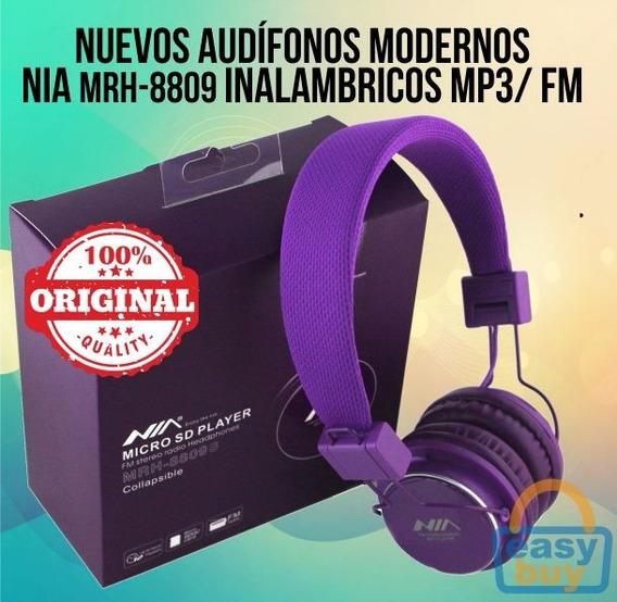 Audífonos Mp3 Inalámbricos Nia Con Pila Recargable