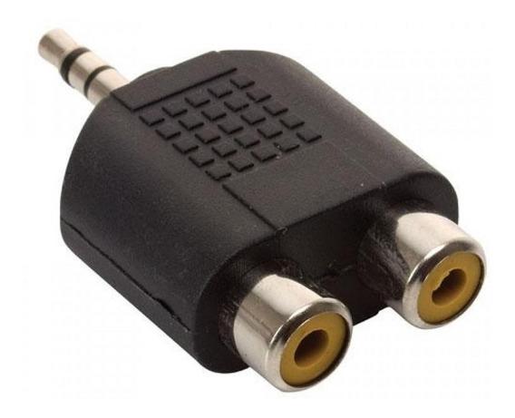Adaptador 2 Rca Hembra A 1 Mini Plug Estereo Macho