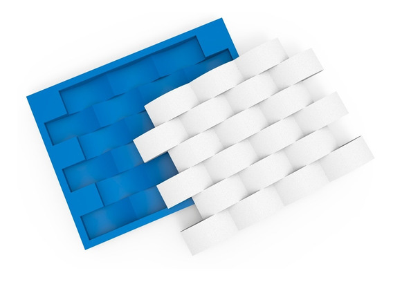 Forma Molde Para Gesso 3d Tijolo Concavo